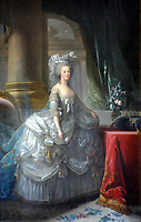 1783 painting of Marie-Antoinette<br /> <br /> Marie-Antoinette<br /> (2 November 1755 – 16 October 1793), born an Archduchess of Austria, was Dauphine of France from 1770 to 1774 and Queen of France and Navarre from 1774 to 1792.