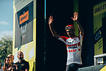 Thomas De Gendt (BEL) Lotto-Soudal from the breakaway wins Stage 8 of the 2019 Tour de France running 200km from Macon to Saint-Etienne, France. 13th July 2019.<br /> Picture: ASO/Thomas Maheux   Cyclefile<br /> All photos usage must carry mandatory copyright credit (© Cyclefile   ASO/Thomas Maheux)