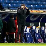 26.11 2020 Rangers v Benfica: Steven Gerrard after Rangers second goal