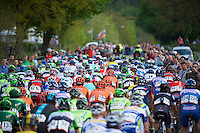 peloton on the Camerig climb<br /> <br /> Amstel Gold Race 2014