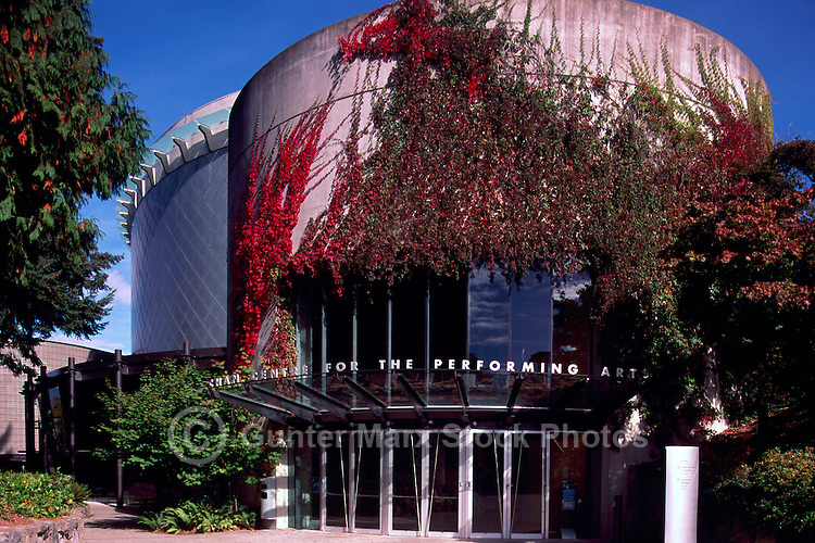 Vancouver, BC, British Columbia, Canada - the Chan Centre for the Performing Arts at the University of British Columbia (UBC), Autumn / Fall