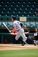 Jupiter Hammerheads Brian Miller (5) at bat during the first game of a doubleheader against the Bradenton Marauders on May 27, 2018 at LECOM Park in Bradenton, Florida.  Bradenton defeated Jupiter 13-5.  (Mike Janes/Four Seam Images)