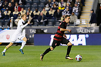 Chester, PA - Friday December 08, 2017: Jared Gilbey The Stanford Cardinal defeated the Akron Zips 2-0 during an NCAA Men's College Cup semifinal match at Talen Energy Stadium.