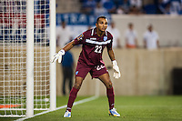 Honduras goalkeeper Donis Escober (22). Honduras defeated Haiti 2-0 during a CONCACAF Gold Cup group B match at Red Bull Arena in Harrison, NJ, on July 8, 2013.