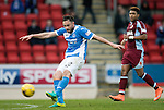 St Johnstone v Stenhousemuir…21.01.17  McDiarmid Park  Scottish Cup<br />Keith Watson has a shot at goal<br />Picture by Graeme Hart.<br />Copyright Perthshire Picture Agency<br />Tel: 01738 623350  Mobile: 07990 594431