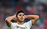 Marco Asensio Willemsen of Real Madrid reacts during the La Liga 2018-19 match between Real Madrid and Getafe CF at Estadio Santiago Bernabeu on August 19 2018 in Madrid, Spain. Photo by Diego Souto / Power Sport Images