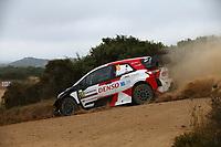 6th June 2021; Olbia, Sardinia, Italy; WRC Rally of Sardegna, final day; Stages SS17-SS20;  Takamoto Katsuka-Toyota Yaris WRC