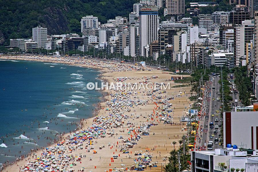Praia de Ipanema e Leblon. Rio de Janeiro. 2015. Foto de Euler Paixao.