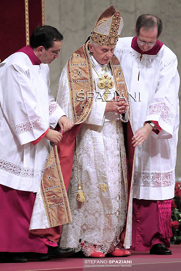 Pope Benedict XVI leads vespers for the opening of the Academic Year  at St Peter's basilica at The Vatican.November 4, 2011