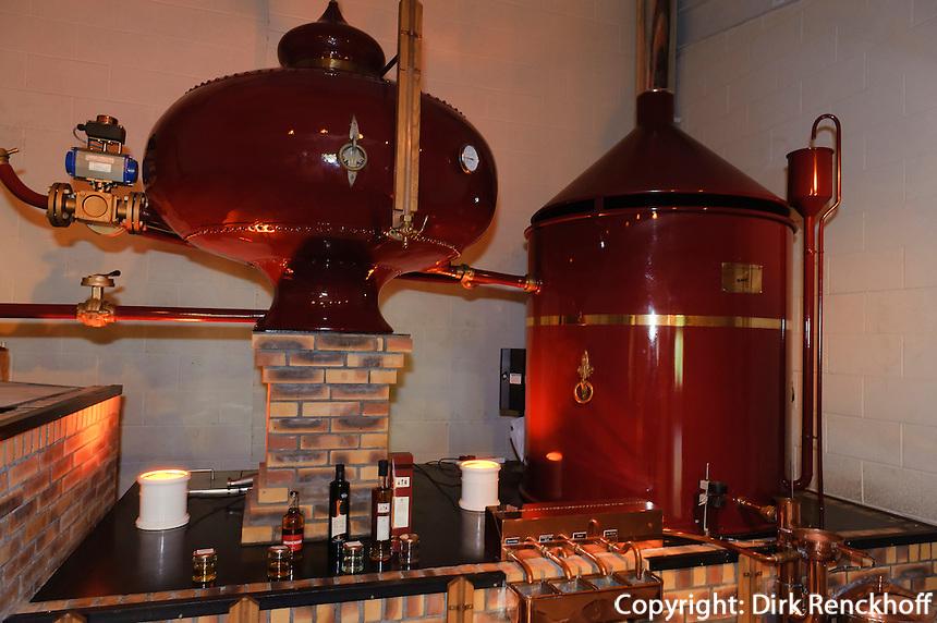 Brennerei im La Mare Wine Estate, Insel Jersey, Kanalinseln