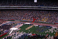 July 17,1976 File Photo - Athletes enter the Montreal Olympic stadium during the 1976 Olympics opening ceremony.