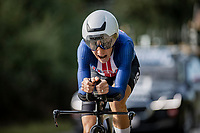 Amber Neben (USA/Cogeas - Mettler Pro Cycling Team)<br /> <br /> 88th UCI Road World Championships 2021 – ITT (WC)<br /> Women Elite Time trial from Knokke-Heist to Brugge (30.3km)<br /> <br /> ©Kramon