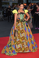 """Terry Pheto<br /> at the London Film Festival premiere for """"A United Kingdom"""" at the Odeon Leicester Square, London.<br /> <br /> <br /> ©Ash Knotek  D3160  05/10/2016"""
