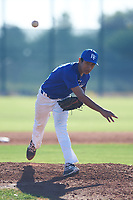 Saul Alva (45), from San Jose, California, while playing for the Dodgers during the Under Armour Baseball Factory Recruiting Classic at Red Mountain Baseball Complex on December 28, 2017 in Mesa, Arizona. (Zachary Lucy/Four Seam Images)