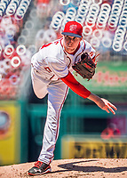 30 July 2017: Washington Nationals pitcher Erick Fedde on the mound in his first major league appearance against the Colorado Rockies at Nationals Park in Washington, DC. The Rockies defeated the Nationals 10-6 in the second game of their 3-game weekend series. Mandatory Credit: Ed Wolfstein Photo *** RAW (NEF) Image File Available ***