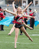 Members of the Youngstown State girls dance team perform at halftime. The Pitt Panthers football team defeated the Youngstown State Penguins 45-37 on Saturday, September 5, 2015 at Heinz Field, Pittsburgh, Pennsylvania.