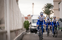 Pieter Serry (BEL/Deceuninck-Quickstep) & teammates rolling out for a training ride<br /> <br /> Team Deceuninck-QuickStep january 2020 training camp in Calpe, Spain<br />  <br /> ©kramon