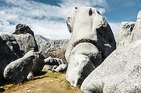 Rocks at Castle Hill near Porters Pass, Canterbury, South Island, New Zealand, NZ