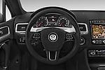 Car pictures of steering wheel view of a 2015 Volkswagen Touareg Bluemotion 5 Door SUV Steering Wheel