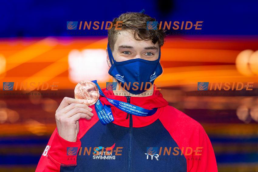 Bronze Medal<br /> WILBYJames GBR<br /> 100m Breaststroke Men Final<br /> Swimming<br /> Budapest  - Hungary  18/5/2021<br /> Duna Arena<br /> XXXV LEN European Aquatic Championships<br /> Photo Giorgio Perottino / Deepbluemedia / Insidefoto