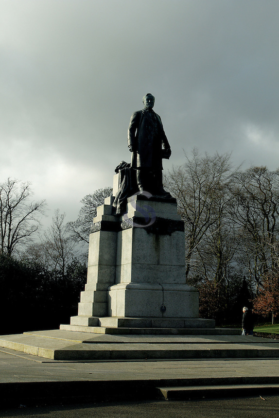 Andrew Carnegie Statue, Pittencrieff Park, Dunfermline, Fife<br /> <br /> Copyright www.scottishhorizons.co.uk/Keith Fergus 2011 All Rights Reserved