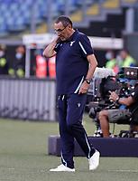 28th August 2021; Olympic Stadium, Rome, Italy; Serie A football, SS Lazio versus AC Spezia : Maurizio Sarri  coach of Lazio