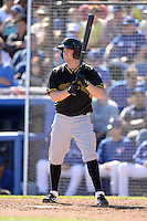 Infielder Blake Davis (68) of the Pittsburgh Pirates during a spring training game against the Toronto Blue Jays on February 28, 2014 at Florida Auto Exchange Stadium in Dunedin, Florida.  Toronto defeated Pittsburgh 4-2.  (Mike Janes/Four Seam Images)