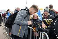 Photo: Richard Lane/Richard Lane Photography. Wasps v Leinster.  European Rugby Champions Cup. 20/01/2019. Wasps' Josh Bassett arrives.