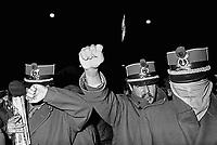"""- Milan, demonstration of the organization """"Proletarian in Uniform"""" (1975)<br /> <br /> - Milano, manifestazione dell'organizzazione """"Proletari in Divisa"""" (1975)"""