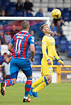 Inverness Caley Thistle v St Johnstone…27.08.16..  Tulloch Stadium  SPFL<br />David Wotherspoon is closed down by Iain Vigurs<br />Picture by Graeme Hart.<br />Copyright Perthshire Picture Agency<br />Tel: 01738 623350  Mobile: 07990 594431