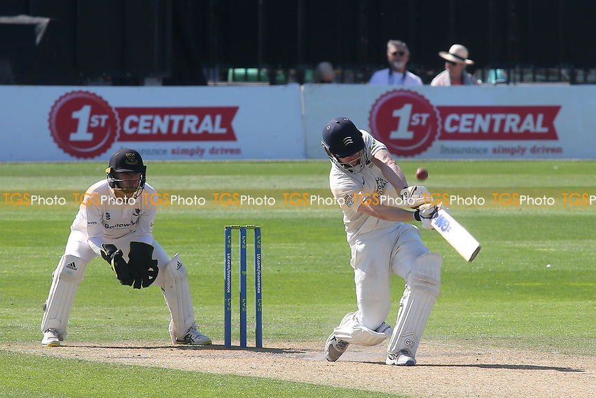 Sam Robson of Middlesex mishits a shot and is out for 253 caught by Tom Haines off the bowling of Jack Carson of Sussex during Sussex CCC vs Middlesex CCC, LV Insurance County Championship Division 3 Cricket at The 1st Central County Ground on 7th September 2021
