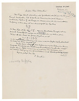 BNPS.co.uk (01202) 558833<br /> Pic: RR Auction/BNPS<br /> <br /> An extremely rare letter by Albert Einstein containing his famous equation has emerged for sale for a staggering £300,000. <br /> <br /> The genius mathematician told a physicist in the 1946 correspondence his question 'can be answered from the E = mc2 formula'.<br /> <br /> The one page letter, which is signed 'A.Einstein', is one of just a handful of documents known to exist with the equation in Einstein's hand.