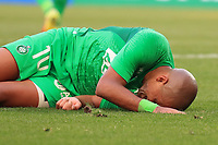 25th September 2021; Saint-Etienne Stade Geoffroy Guichard, France; AS Saint-Etienne versus OGC Nice; Wahbi KHAZRI goes down injured