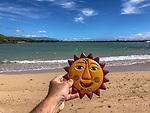 Tin Sun Face Found On Beach
