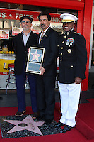 LOS ANGELES - APR 29:  Playwright David Mamet, actor Joe Mantegna and Marine Lt. General Willie Williams attending the Hollywood Walf of Fame Star Ceremony for Joe Mantegna at Hollywood Walk of Fame on April 29, 2011 in Los Angeles, CA