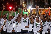 19.05.2018, Football DFB-Pokal Finale 2018, FC Bayern Muenchen - Eintracht Frankfurt, Olympiastadium in Berlin. Eintracht Frankfurt gewinnt den DFB-Pokal, Alexander Meier (mi., Eintracht Frankfurt) and Pokal *** Local Caption *** © pixathlon<br /> <br /> Contact: +49-40-22 63 02 60 , info@pixathlon.de