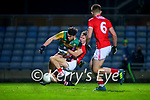 Oisín Maunsell, Kerry in action against Eoghan Nash, Cork during the Munster Minor Semi-Final between Kerry and Cork in Austin Stack Park on Tuesday evening.