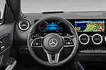 Car pictures of steering wheel view of a 2021 Mercedes Benz EQA 250-Business 5 Door SUV Steering Wheel