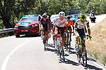 The breakaway during Stage 3 of La Vuelta d'Espana 2021, running 202.8km from Santo Domingo de Silos to Picon Blanco, Spain. 16th August 2021.    <br /> Picture: Luis Angel Gomez/Photogomezsport | Cyclefile<br /> <br /> All photos usage must carry mandatory copyright credit (© Cyclefile | Luis Angel Gomez/Photogomezsport)