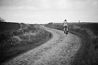 Lars Boom (NLD/Astana) during recon of the 114th Paris - Roubaix 2016