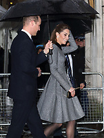 Prince William and Catherine, Duchess of Cambridge arrive at the Holocaust Memorial Day Commemorative Ceremony, Central Hall, Westminster, London on January 27th 2020<br /> <br /> Photo by Keith Mayhew
