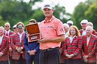 30th May 2021; Fort Worth, Texas, USA;  Jason Kokrak poses with a Leddy belt buckle after winning the Charles Schwab Challenge on May 30, 2021 at Colonial Country Club in Fort Worth, TX.