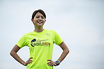 Wings for Life Ambassador and TV News Anchor Po Yu Lin poses for a photograph during the Wings for Life World Run on 08 May, 2016 in Yilan, Taiwan. Photo by Victor Fraile / Power Sport Images