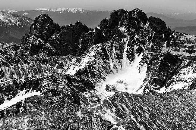 Peaks southeast of Westcliffe, Colorado.