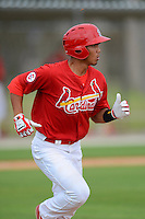 GCL Cardinals infielder Chris Rivera (11) during the first game of a double header against the GCL Mets on July 17, 2013 at Roger Dean Complex in Jupiter, Florida.  GCL Cardinals defeated the GCL Mets 6-5 in twelve innings.  (Mike Janes/Four Seam Images)