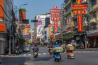 Bangkok, Thailand.  Yaowarat Road, Chinatown.