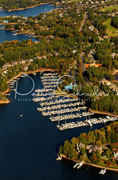 Charlotte aerial photography - October 2010 - of Lake Norman in northern Mecklenburg County