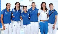 2008-07-07 Coni: Presentazione degli atleti italiani che parteciperanno alle prossime Olimpiadi di Pechino<br /> La squadra di ginnastica<br /> Photo Serena Cremaschi Inside