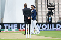 Virat Kohli at the toss during India vs New Zealand, ICC World Test Championship Final Cricket at The Hampshire Bowl on 19th June 2021