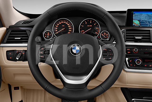 Steering wheel view of a 2013 BMW 318d Gran Turismo Luxury Hatchback2013 BMW 318d Gran Turismo Luxury Hatchback